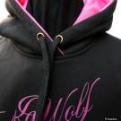 Felpa K9 Wolf invernale per donna. Logo Rosa addestramento cani