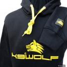 Felpa K9 WOLF logo gommato 3D Nera e Gialla addestramento cani