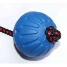 Pallina corda singola, galleggiante gomma 70 mm per cani