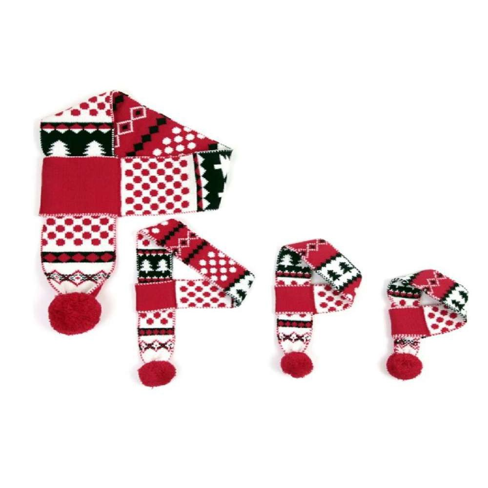 Sciarpa Natale modello fiocco di neve 110 cm per cani