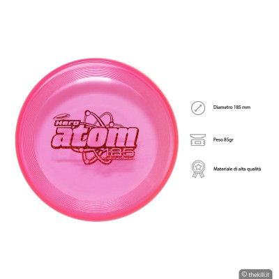 Frisbee DISC DOG HERO SUPER ATOM 185 ROSA per cani