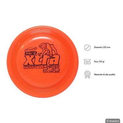 Frisbee DISC DOG HERO X-TRA 235 FREESTYLE ARANCIO per cani