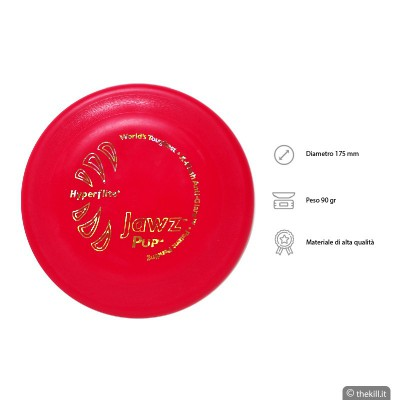 Frisbee DISC DOG JAWZ PUP LIME per cani