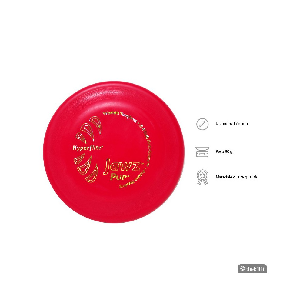 Frisbee DISC DOG JAWZ PUP LIME per cani