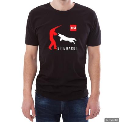 T-Shirt UNISEX conduttore cinofilo BITE HARD addestramento cani