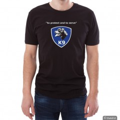"""T-shirt unisex Rottweiler \\""""To Protect And To Serve\\"""" addestramento cani"""