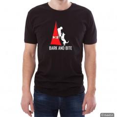T-Shirt UNISEX conduttore cinofilo BARK AND BITE addestramento cani