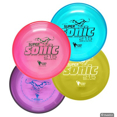Frisbee DISC DOG HERO SUPER SONIC 215 TAFFY VIOLA per cani