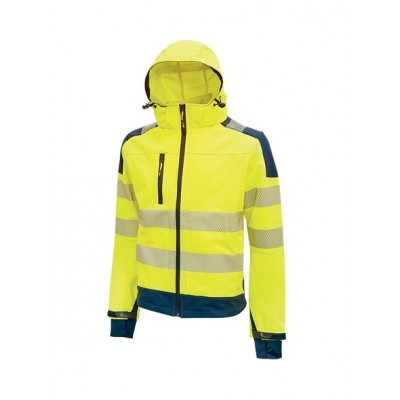 Giacca Soft Shell Miky Gialla Fluo addestramento cani