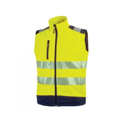 Gilet Soft Shell Dany Gialla Fluo addestramento cani