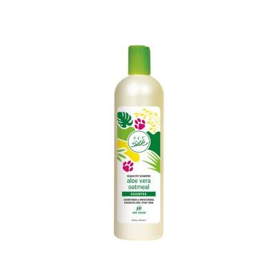 Shampoo d'avena con aloe vera 100% vegano per cani