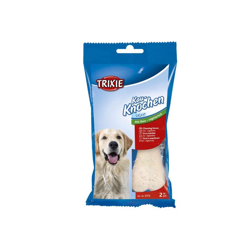 Osso Vegetale di Riso due pezzi Trixie per cani