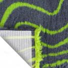 Vet Bed tappeto antiscivolo Antracite con onde verdi