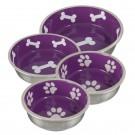 Ciotola robusta in acciaio inossidabile Viola per cani
