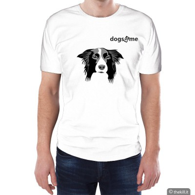 T-shirt unisex Dog4me Border Collie addestramento cani