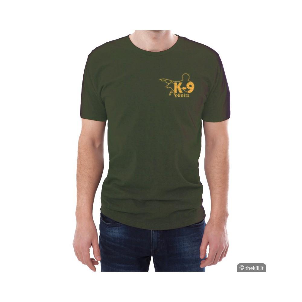 T-shirt manica corta UNISEX JULIUS K9 Verde addestramento cani