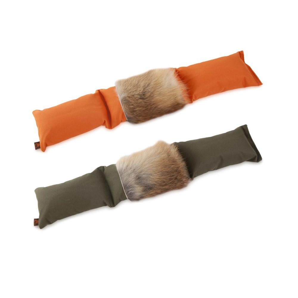 Firedog Dummy composto da tre parti con pelo di volpe per cani
