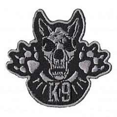 "K-9 Paw Patch ricamata \\""Teschio\\"" K9 6x6 cm per cani"