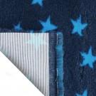 Vet Bed tappeto antiscivolo antracite con stelle blu per cani