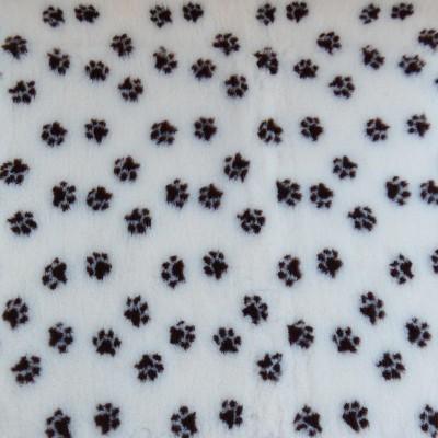 Vet Bed tappeto antiscivolo Crema con Zampe Marroni