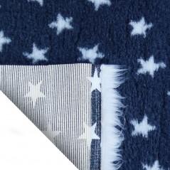 Vet Bed tappeto antiscivolo antracite con stelle bianche per cani