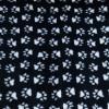Vet Bed tappeto antiscivolo Nero con zampe Bianche