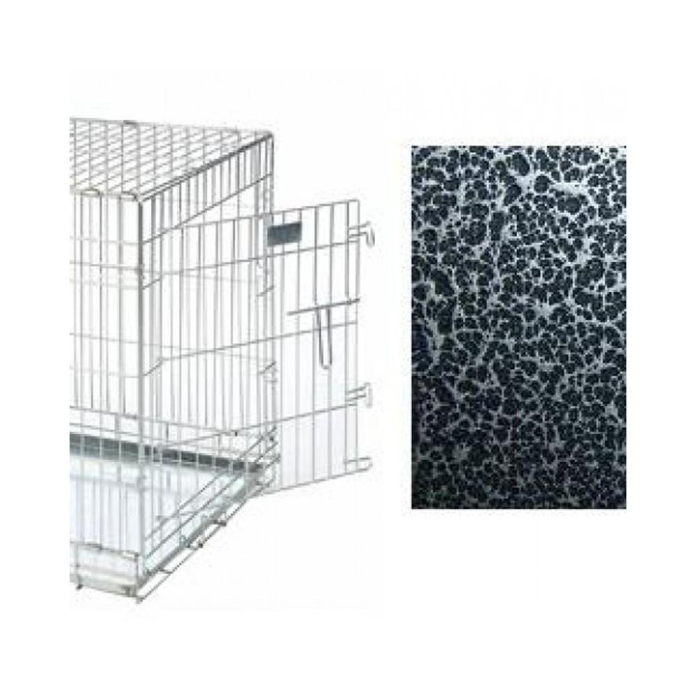 Kennel in acciaio TOPMAST con rivestimento nero e argento per cani