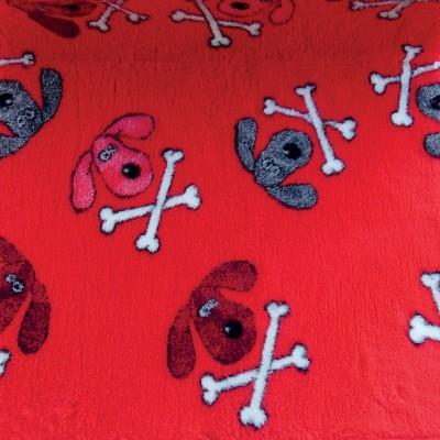 Vet Bed tappeto antiscivolo Teschietti Rosso per cani