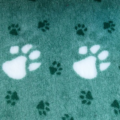 Vet Bed tappeto antiscivolo Verde con Zampe Grandi