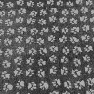 Vet Bed tappeto antiscivolo Antracite con Zampe bianche per cani