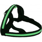 Pettorina LED 25 mm x 80 cm. Verde per cani