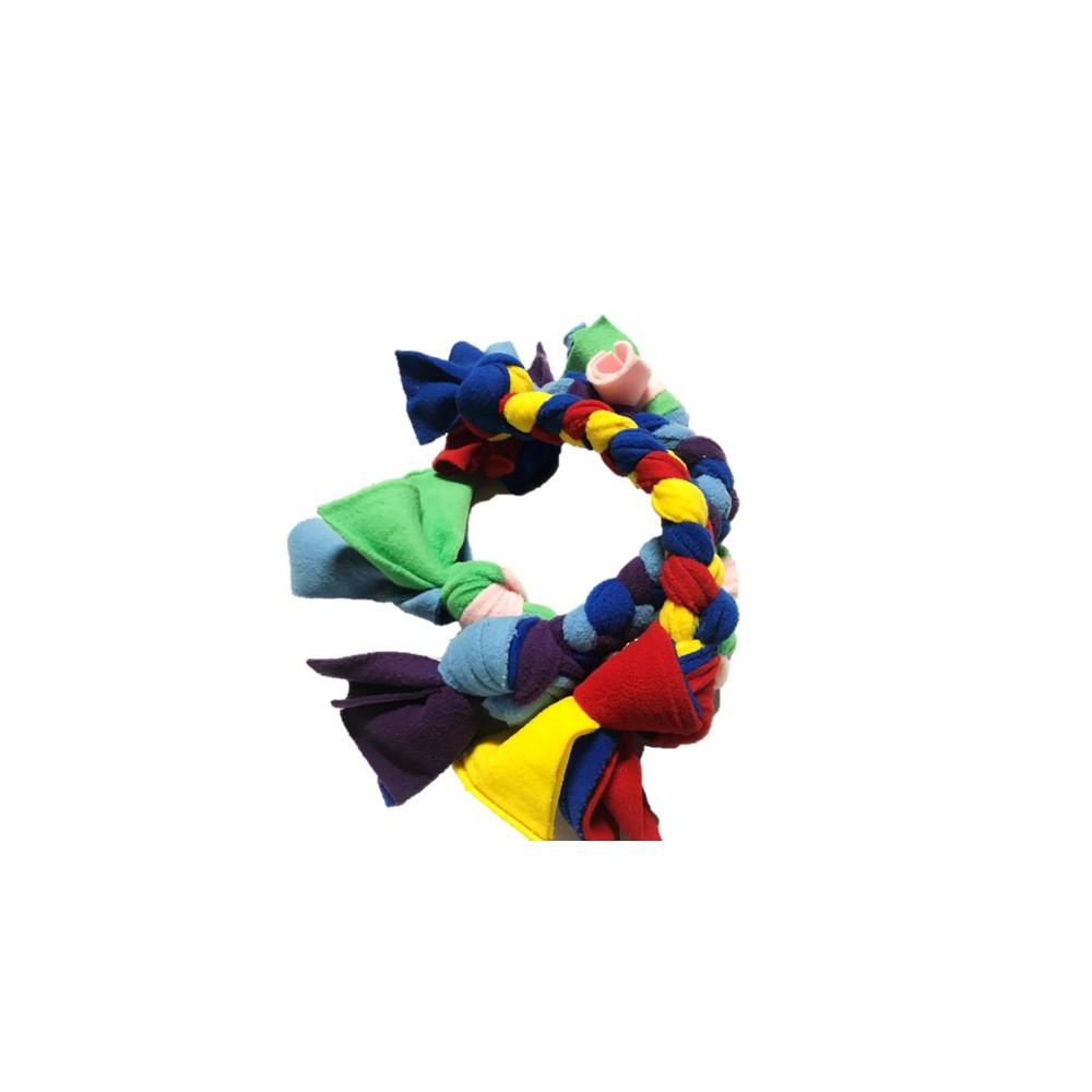 Treccia pile colori assortiti 50 cm per cani