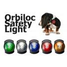 Luce led Orbiloc Dog Dual. Impermeabile. Gialla per cani