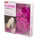 Ciotola plastica Rallenta pasti Slo-Bowl fiore Porpora per cani